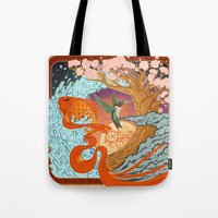 the national Tote Bags featuring National Ignition by Nathaniel Reeves
