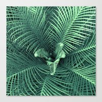 fern Canvas Prints featuring Fern by ravynka