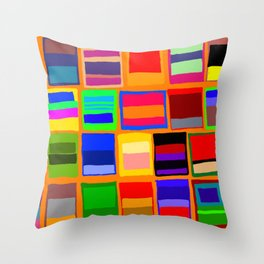 Rothkoesque Throw Pillow