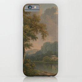 Abraham Pether - Wooded Hilly Landscape (1785) iPhone Case