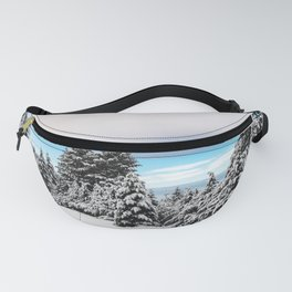 Winter Woods VII - Snow Capped Forest Adventure Nature Photography Fanny Pack