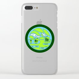 birdland wetland ecopop Clear iPhone Case