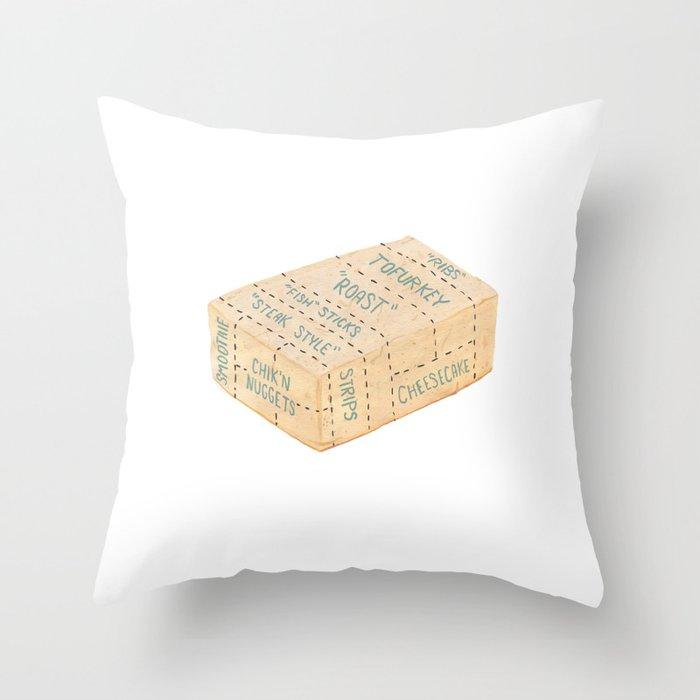 Tofu Cuts Throw Pillow