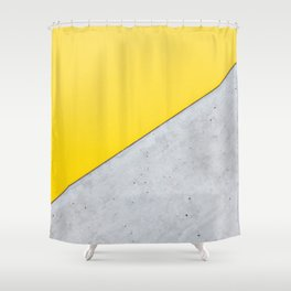 Yellow & Gray Abstract Background Shower Curtain