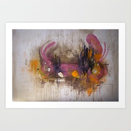 Pinkpurple Playstation Catrabbit - Gamepad Series Art Print