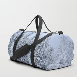 Snowy forest at the White Mountain Duffle Bag