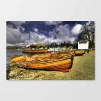 rowing Canvas Prints featuring Rowing Boats at Ambleside  by Rob Hawkins Photography
