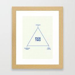 Pick Two Framed Art Print