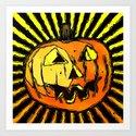 Scary Halloween Pumpkin by perkinsdesigns