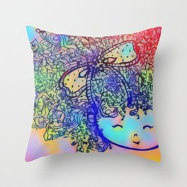 Forever Curlz Throw Pillow