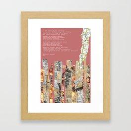 Jx3 Poem - 4 Framed Art Print