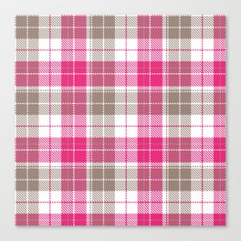 Pink & Natural Tartan Pattern Canvas Print