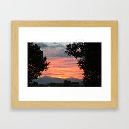 Rocky Mountain Sunset - M Framed Art Print