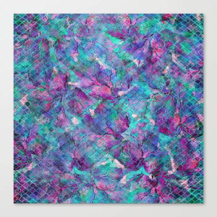 Frozen Leaves 2 Canvas Print