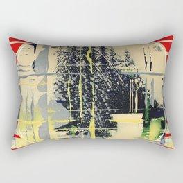 sunday Morning - red Rectangular Pillow