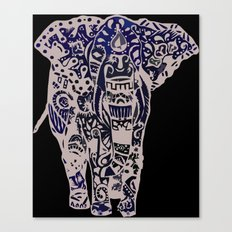 Seamless Elephant Canvas Print