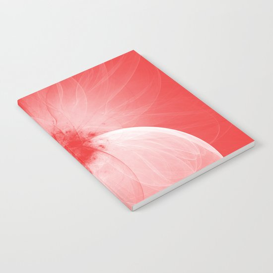 Red Fairy Blossom Fractal Notebook