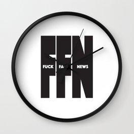 Fuck Fake News Wall Clock