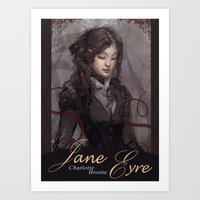 jane eyre Art Prints featuring Jane Eyre by Alicia Froelicher