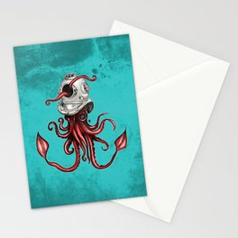 Squid with Diving Helmet Stationery Cards