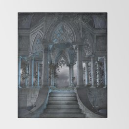 Gothic Mausoleum Throw Blanket