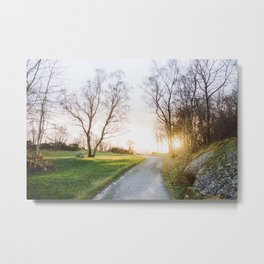 Sunset Norway Metal Print