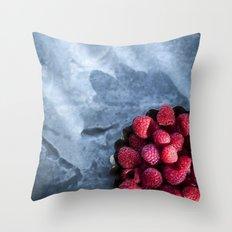 Sunlight and Raspberries Throw Pillow