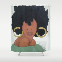 Poised. Shower Curtain