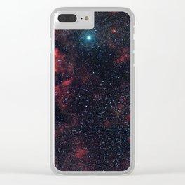 Cygnus Constellation Clear iPhone Case