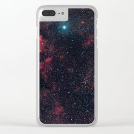 Cygnus Constellation Clear iPhone Case