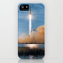 Apollo 8 - Saturn V Liftoff! iPhone Case
