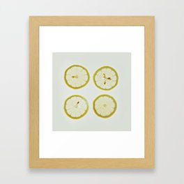 Lemon Square Framed Art Print