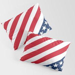 USA American Flag Slanted Stripes Pillow Sham