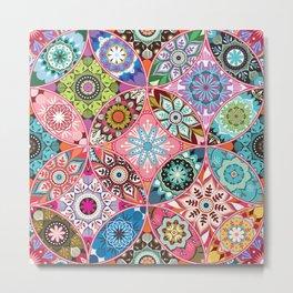 Moroccan bazaar   pink Metal Print