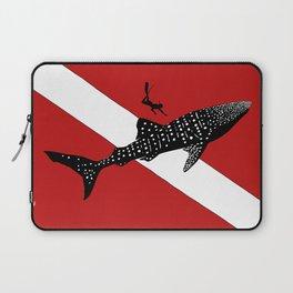 DIVER DOWN - whale shark dive Laptop Sleeve