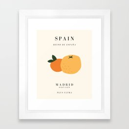 Spain Exhibition Framed Art Print