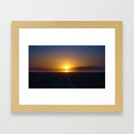 Salton Sea Sunset Framed Art Print