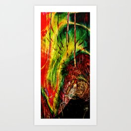 Wood and Flower Art Print