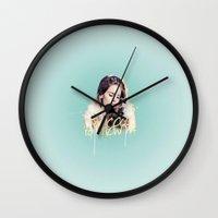 ultraviolence Wall Clocks featuring brooklyn baby by evenstarss