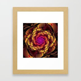 Beautiful Lantana Camara Sunrise Fractal Flowers Framed Art Print