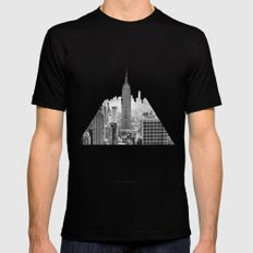 New York City Mens Fitted Tee MEDIUM Black