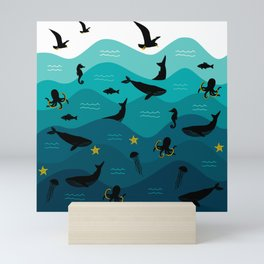 Underwater Ocean Animals Mini Art Print
