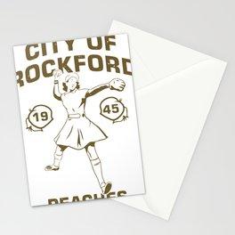 City of rockford peaches 1945 feminist baseball Stationery Cards