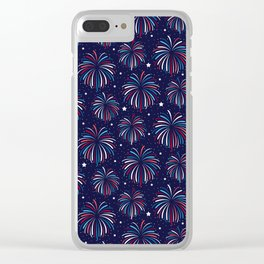 Star Spangled Night Clear iPhone Case