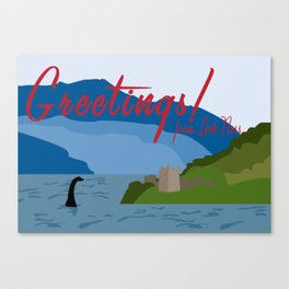 Loch Ness Monster Canvas Print