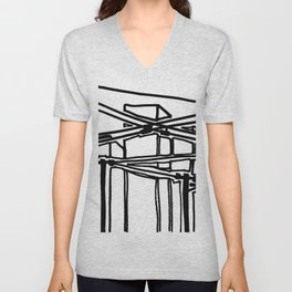 electric cords- urban view Unisex V-Neck