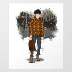 Going downtown #5 Art Print