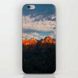 Zion National Park / Utah Sunrise / Desert Sunrise / Canyon / Desert Canyon / Utah / National Park iPhone Skin