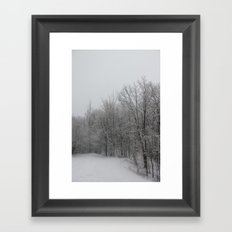 Partout, de la Neige (Everywhere, Snow) Framed Art Print