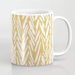 Boho mudcloth herringbone pattern - yellow Coffee Mug